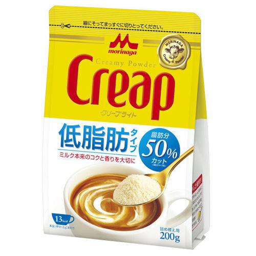 お見舞い 牛乳から生まれた成分をギュッと凝縮 低脂肪タイプクリープ 森永乳業 クリープ クリープライト ミルク フレッシュ 激安通販販売 コーヒー 200g 低脂肪