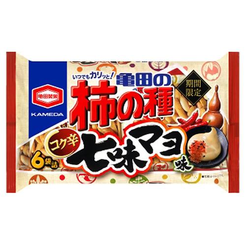 亀田製菓 亀田の柿の種 コク辛七味マヨ味 6袋