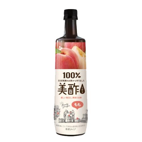 フラクトオリゴ糖を使用。爽やかな味わい。 CJジャパン 美酢 もも味 900ml