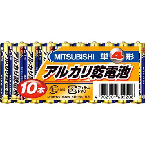 三菱電機 アルカリ乾電池単4形10本パック 1PK 授与 送料無料/新品
