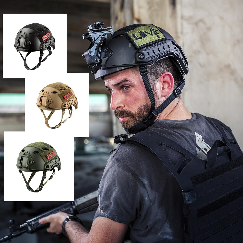 送料無料 かっこいいサバゲー用ヘルメットサバゲーファンなら ぜひ OneTigris アウトドア PJタイプ エアソフトヘルメット 米軍風レプリカ装備 多機能サバゲーヘルメット マウントレール付き Fastヘルメット ブラック 調整可能 かっこいいヘルメット 軽量 40%OFFの激安セール オリジナル 卓出 ロードバイク用