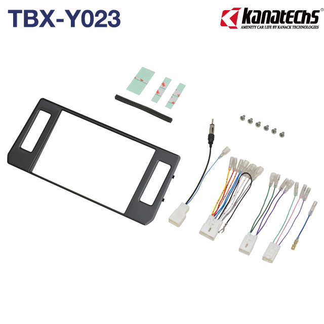 トヨタランドクルーザープラドに8インチ社外ナビを取り付けるためのインストレーションセット。 カナテクス/KANATECHS トヨタランドクルーザープラド 8インチカーナビ取付キット(TBX-Y023)