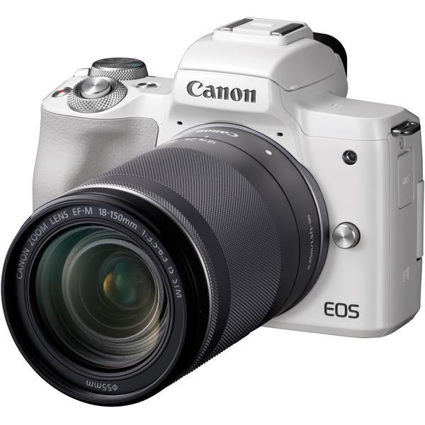 【 在庫処分!】【 国内正規ルート品 】【送料無料】CANON(キヤノン)EOS Kiss M EF-M18-150 IS STM レンズキット ホワイト2410万画素 デジタル一眼カメラ