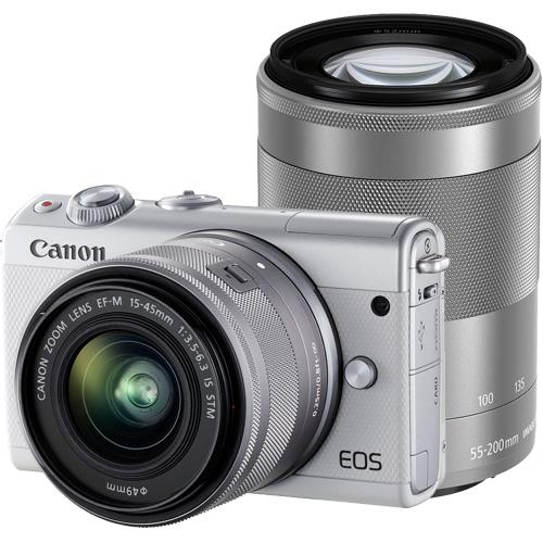 CANON(キヤノン)EOS M100 ダブルズームキット ホワイト2420万画素 ミラーレスカメラ【あす楽対応_関東】【送料無料】