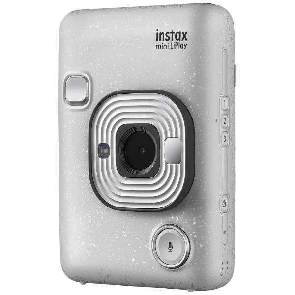 舗 再販ご予約限定送料無料 あす楽関東_対応 FUJIFILMinstax mini LiPlay 4547410413212 チェキ 送料無料 ストーンホワイトハイブリッドインスタントカメラ