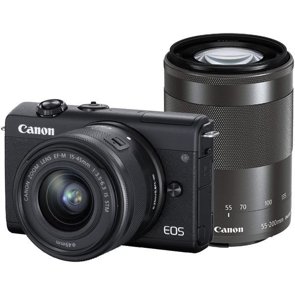 CANON(キヤノン)EOS M200 ダブルズームキット ブラック[4549292142983]2410万画素 ミラーレスカメラ【あす楽対応_関東】【送料無料】