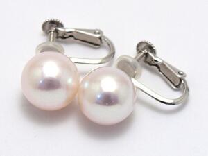 あこや真珠 10.3mm シンプルイヤリング ホワイトゴールド 【送料無料】  パール 専門 auktn