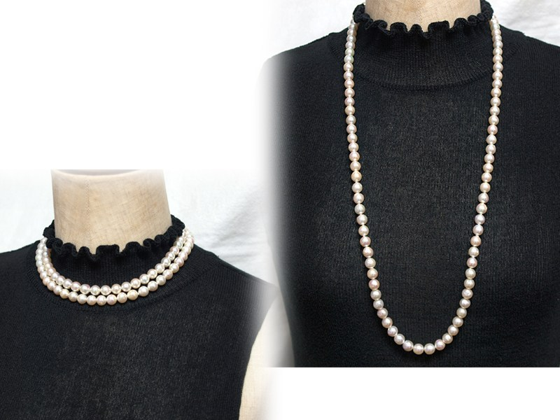 dc2f0a9fea270 Baroque Pearl Necklace 8 mm up, Akoya pearls this party or everyday use in  Pearl auktn P25Jan15