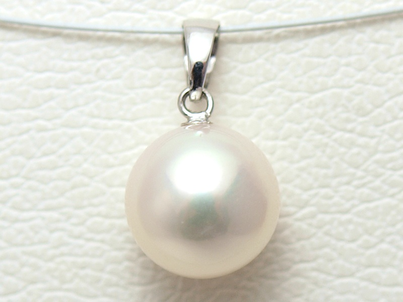 Onishi pearls rakuten global market japanese pearl akoya pearl japanese pearl akoya pearl pendant wg large pearl 93 mm for simple grains white mozeypictures