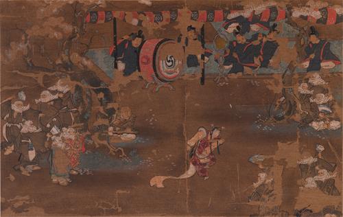 北野神社衝立 舞樂圖