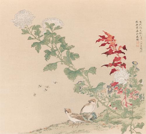 華山筆 花鳥圖