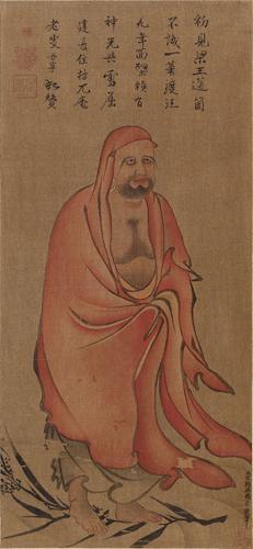 張月壺筆 達磨渡江圖
