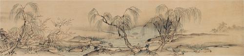 Landscapes on a Scroll by Priest Sesshu