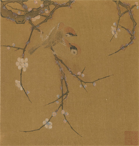 Sparrows on a Plum Tree,attributed to Ma lin.