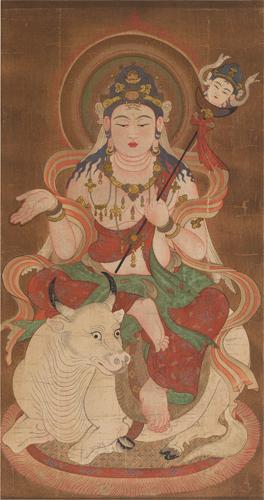 Potrait of Yama-Deva,Painter unknown.