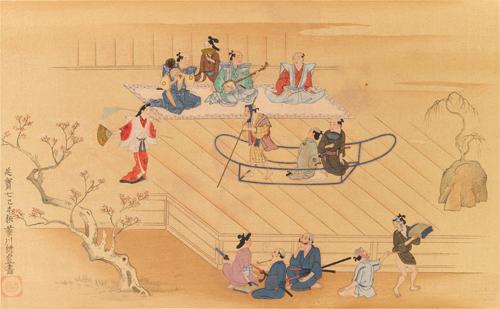 A Scene on the Sumida,by Moronobu Hishikawa.