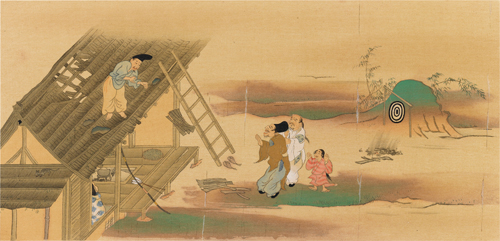 A Scene from the Uji-shui-monogatari,by Gukei Sumiyoshi