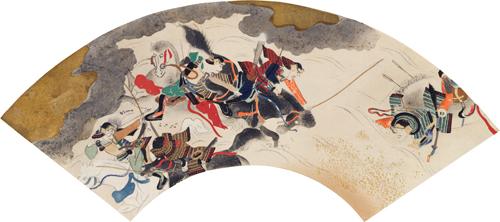 A Scene from the Hogen and Heiji Wars. by Sotatsu Tawaraya.