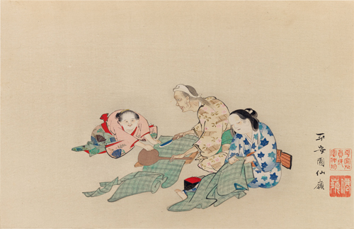 Women at Needlework.by Okyo Maruyama.