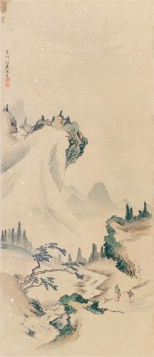 司馬江漢筆 山水圖