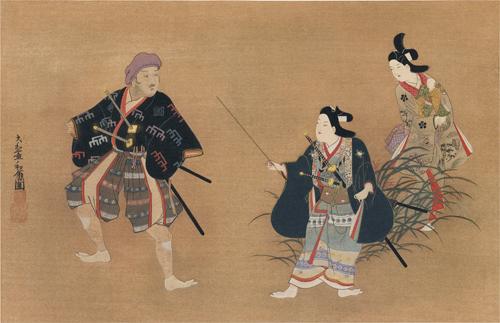 菱川和翁筆 演劇圖