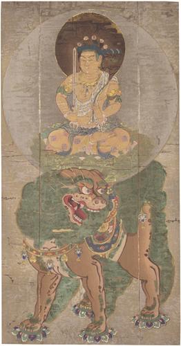 鎌倉時代 文殊菩提圖