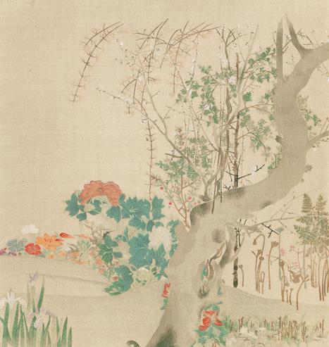 光琳筆 花卉圖