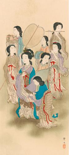 豊彦筆 王母圖
