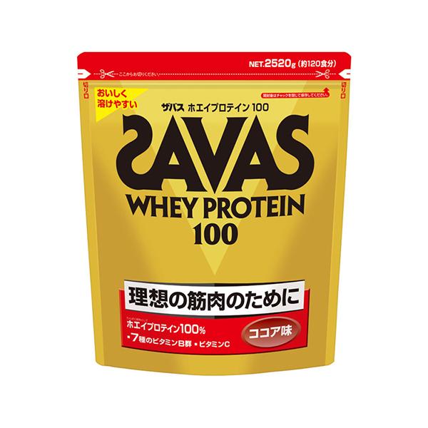 ザバス SAVAS ホエイプロテイン100 ココア味 2,520g (約120食分)
