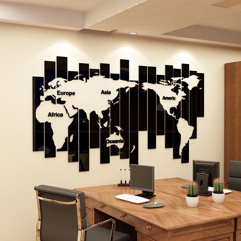【送料無料】世界地図 マップ 立体 ウォールステッカー 簡単!楽しくプチリフォーム!! 傷隠し 3D サイズE