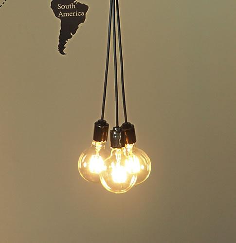 ペンダントライト 3灯 照明 間接 シーリング ダイニング 玄関 おしゃれ カフェ インダストリアル ブルックリン 人気 ブランブラン [フレアー] LED電球付き