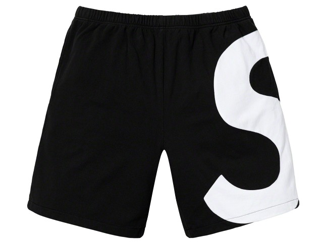 SUPREME シュプリーム 19SS 新品 黒 S Logo Short Sロゴ ショーツ BLACK ブラック 短パン 半ズボン