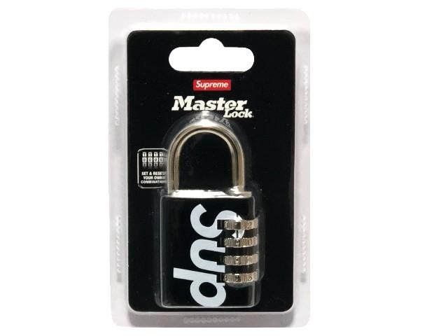 SUPREME シュプリーム Master Lock マスターロック 別注 コラボ 19SS 新品 黒 Numeric Combination Lock 南京錠 鍵 キーホルダー BLACK
