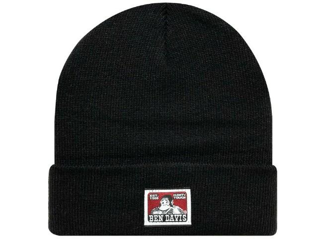 SUPREME シュプリーム ベンデイビス コラボ 19AW 新品 黒 Ben Davis Beanie ビーニー ニット帽 折り返し BLACK