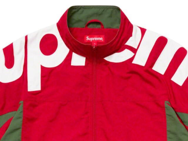 SUPREME シュプリーム 19AW 新品 赤 Shoulder Logo Track Jacket ショルダー ロゴ トラック ジャケット RED ジャージ 送料無料