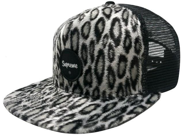 SUPREME シュプリーム 20SS 新品 黒 Leopard Mesh Back 5-Panel Mesh CAP レオパード メッシュ 5パネル キャップ BLACK ブラック