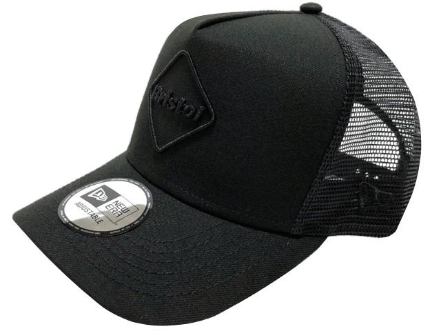 SOPHNET. ソフ F.C.Real Bristol エフシーレアルブリストル ニューエラ 値引き コラボ 21AW 返品送料無料 エンブレム メッシュキャップ MESH EMBLEM CAP 黒黒 BLACK 新品