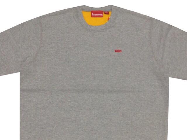 SUPREME シュプリーム 18SS 新品 グレー Contrast Crewneck Sweatshirt コントラスト クルーネック スウェット Small Box ボックスロゴ Grey