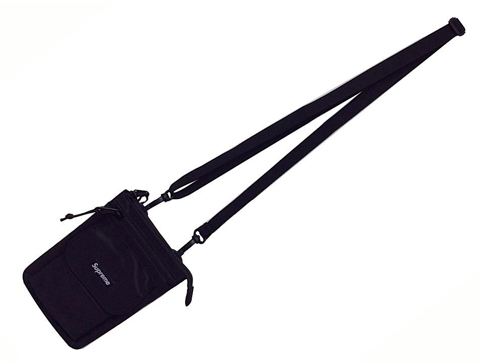 SUPREME シュプリーム 19AW 新品 黒 ショルダーバック Shoulder Bag BLACK ブラック ポーチ 斜め掛け 送料無料