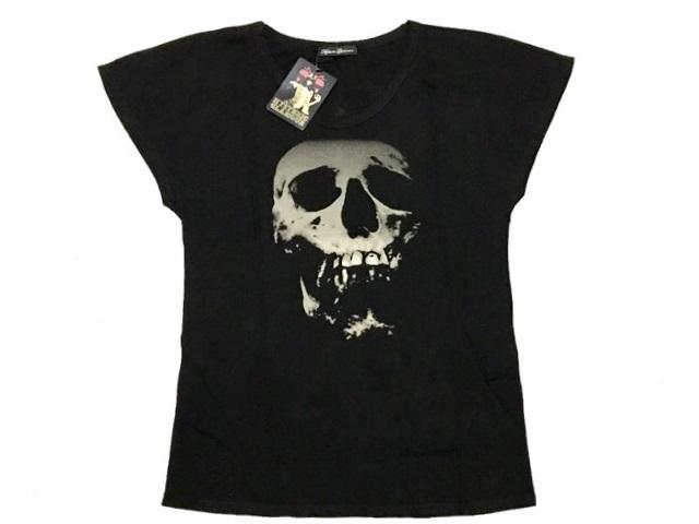 ヒステリックグラマー HYSTERIC GLAMOUR レディース 新品 スカルベリー SKULL BERRY プリントTシャツ 黒 ビックTシャツ BLACK