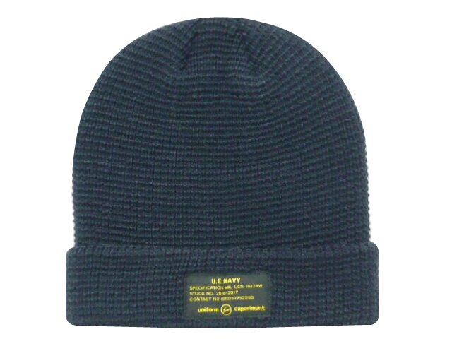 SOPH. uniform experiment ソフ ユニフォームエクスペリメント ★2016AW新品 紺 UEN KNIT CAP ニット帽 ビーニー NAVY UE