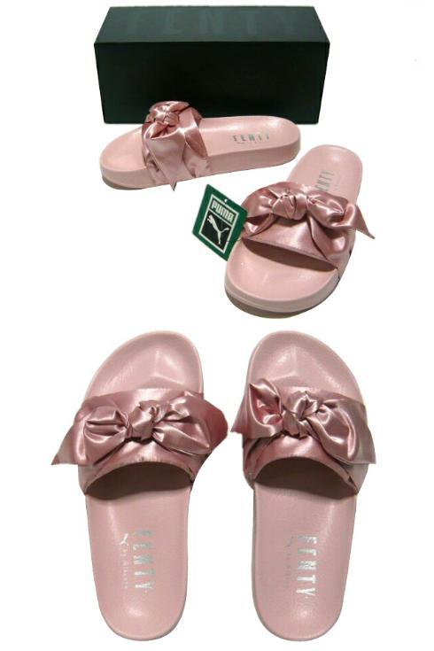Rihanna Puma satin ribbon sandals ★ 2017SS new article pink FENTY PUMA RIHANNA STAIN BOW SLIDE article number 365774 03