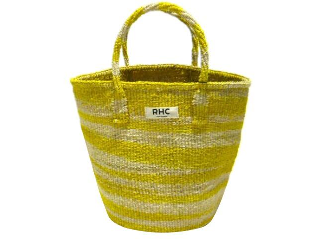 Ron Herman ロンハーマン 店舗限定 2017 新品 黄 RHC Original Zebra Tote Bag かごバック YELLOW