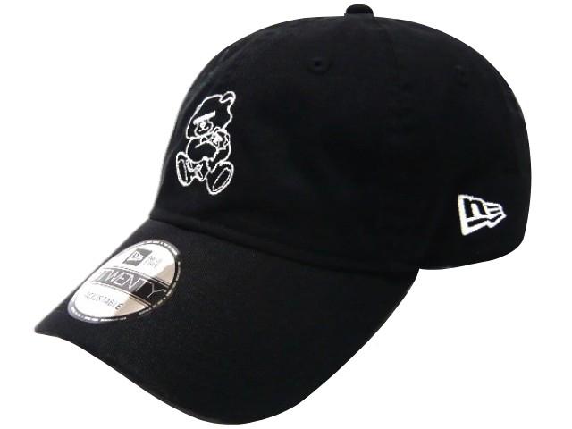 UNDERCOVER アンダーカバー ニューエラコラボ ☆ 18AW 新品 黒 NEW ERA BEAR 9TWENTY CAP 刺繍 キャップ 親小熊 目隠しベア BLACK