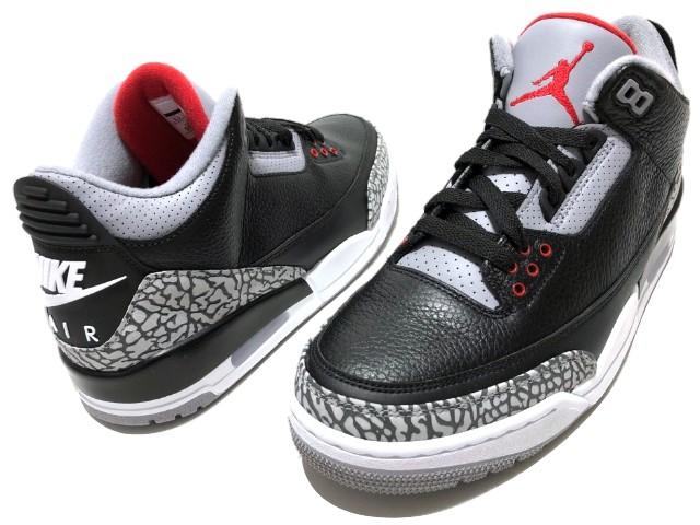 301e81728d955 NIKE AIR JORDAN 3 RETRO OG BLACK CEMENT 18SS new article black cement Nike  Air Jordan 3 article number 854