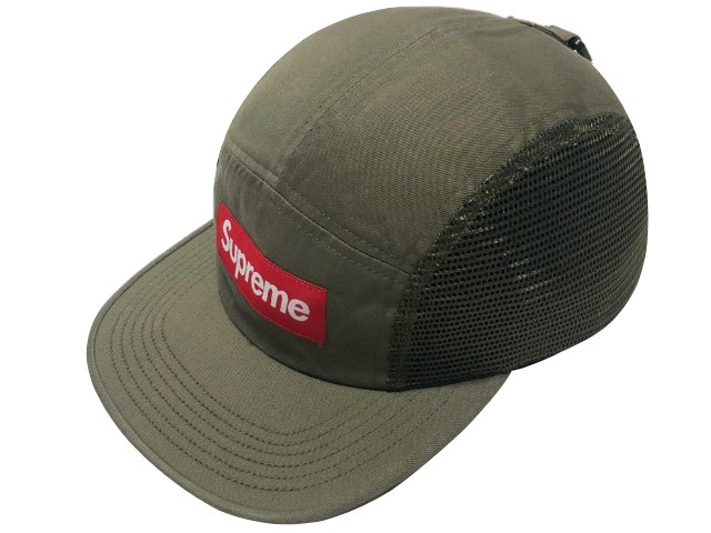 SUPREME シュプリーム ★ 18SS 新品 オリーブ Mesh Side Panel Camp Cap メッシュサイドパネル キャンプ キャップ Olive カーキ ボックスロゴ