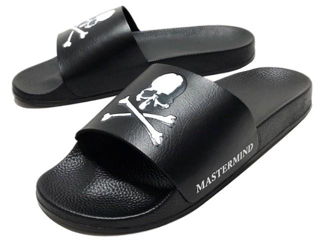 f26839c0395f mastermind JAPAN master mind Japan world ☆ 18AW new article black sandals  MASTERMIND WORLD Debossed Slide Sandal BLACK scull