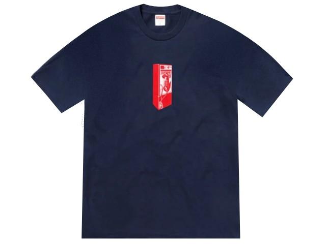 SUPREME シュプリーム ★ 18AW 新品 紺 Payphone Tee ペイフォン Tシャツ 公衆電話 NAVY ネイビー