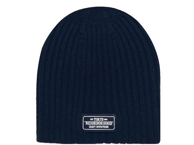 NEIGHBORHOOD ネイバーフッド 18AW 新品 紺 BEANIE / AW-CAP ビーニー ニット帽 NAVY ネイビー