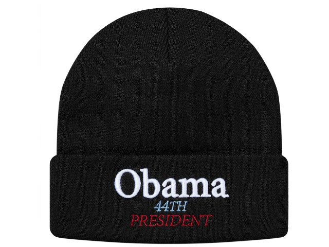 64034b3d98ed6 ONLY ONE STYLE  SUPREME シュプリーム ☆ 18AW new article black Obama Beanie knit  hat Obama beanie lapel BLACK